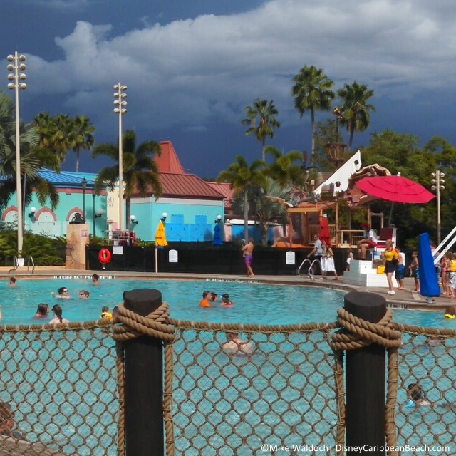 CBR pool and storm clouds