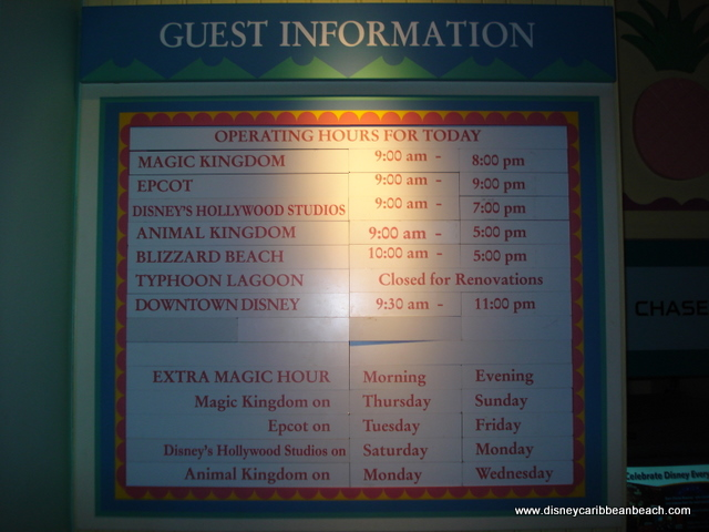 Guest info at Old Port Royale