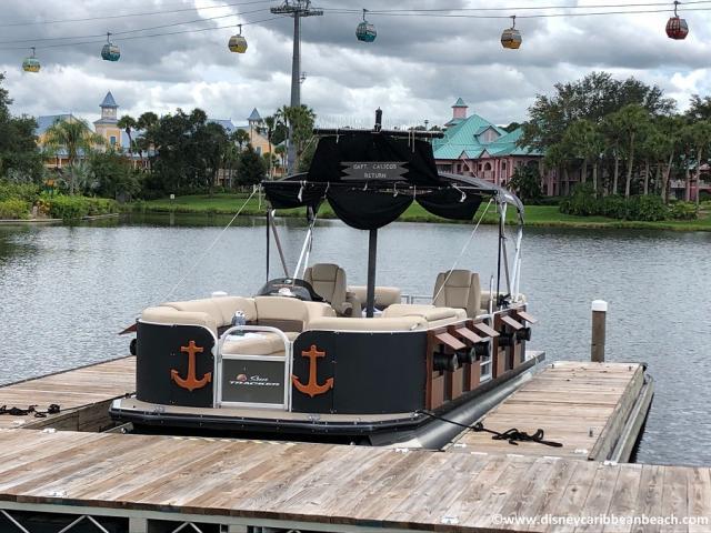 Pirate Boat and Disney Skyliner